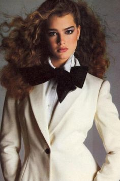 Brooke Shields. 1980s model.