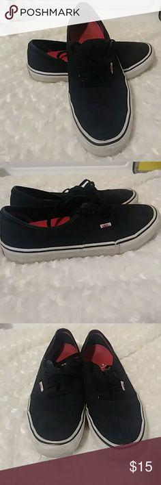 37696cb4b153 Mens Black Vans Black Mens Size 11 Van Skate Shoes. Good Condition White on  soles