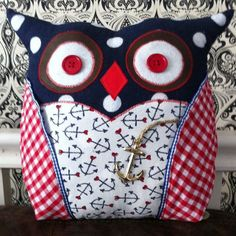 Handmade Nautical Owl Pillow £15.00