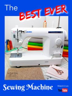 The best sewing machine is the Juki Learn more right here! Free Motion Quilting, Quilting Tips, Quilting Tutorials, Sewing Tutorials, Easy Sewing Projects, Sewing Hacks, Sewing Tips, Bag Patterns To Sew, Sewing Patterns