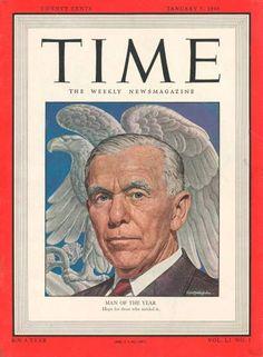 1947: George Marshall, architect of the Marshall Plan.