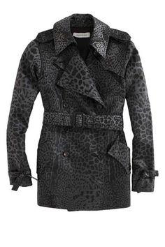 #YSL #leopard print short #trenchcoat