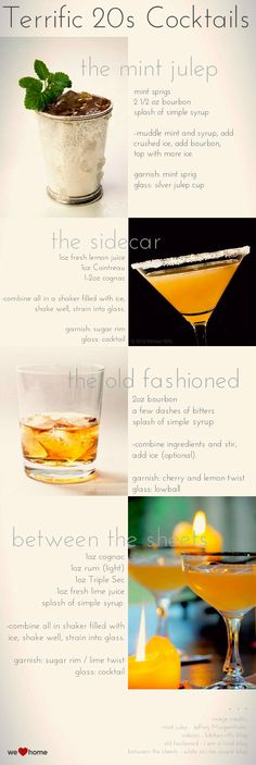 20s Cocktail Recipes