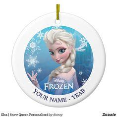 Elsa | Snow Queen Personalized Ceramic Ornament