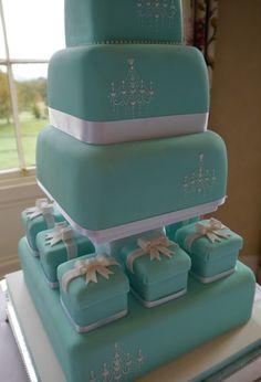 Tiffany-Inspired Wedding Cake