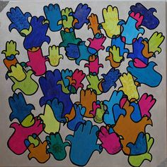 Khamsa multicolore Bart Simpson, Fictional Characters, Hamsa, Fantasy Characters