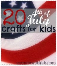 20 July 4th crafts for kids - you KNOW I'll be doing this with my little bambinos!