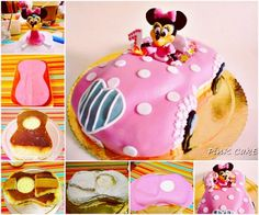 Minnie Mouse Car Cake