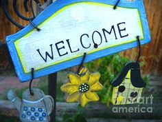 """""""Welcome"""" (Photo by Lin Haring) A word in the English language, second in greatness only, perhaps, to """"stay""""."""