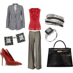 Buisness Hours, created by #karajp on #polyvore. #fashion #style DAY Birger et Mikkelsen #Casadei