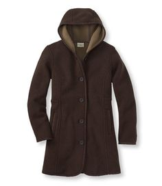 One of the best coats of the year. Warm, light, pretty and different. The Kingfield Fleece Coat, Hooded: Casual Jackets   Free Shipping at L.L.Bean