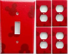 Mickey Mouse Club House Boys Girls Kids Bedroom Bathroom Light Switch Outlet or… Mickey Mouse Bathroom, Mickey Mouse House, Mickey Minnie Mouse, Disney Mickey, Disney Rooms, Disney House, Mickey Decorations, Disney Kitchen, Disney Home Decor