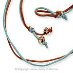 Rust and Aqua Leather Necklace from James Avery