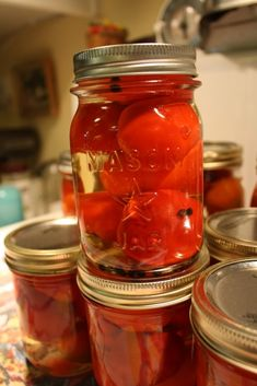 Pickled Cherry Peppers Recipe, Cherry Pepper Recipes, Pickled Cherries, Canned Cherries, Sweet Cherries, Canning Tips, Canning Recipes, Hot Sauce Recipes, Paste Recipe