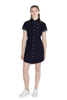 Fred Perry - Oxford Shirt Dress Navy