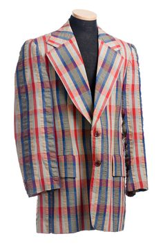 Plaid seersucker jacket, 1960s. From the collections of the Charleston Museum.