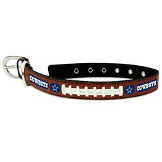 NFL Dallas Cowboys Leather Pet Collar at shop.dallascowboys.com.