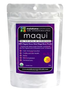 Maqui Berries  have traditionally been used by the Mapuche Indians to promote strength, endurance and overall health. http://mywisebody.com/matanaka-superfoods-maqui-powder-100g