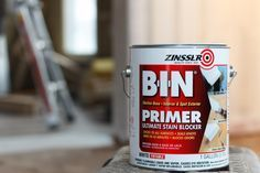 How to paint over knotty pine wood paneling: Knotty pine is difficult enough to prep and paint, @rehabdorks also discovered that it was coated with years of pipe smoke buildup. This all led to a hefty amount of prep we needed to do before we could even begin to paint the walls. http://www.rustoleum.com/product-catalog/consumer-brands/zinsser/primer-sealers/b-i-n-shellac-base-primer/