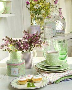 Tumblr / shades of pinks and greens / pastels / pretty color combos / Ana Rosa - tumblr