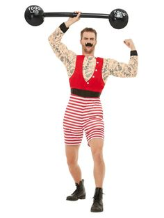 50807 Clown Fancy Dress, Red Fancy Dress, Short Jumpsuit, Mullets, Overall, Outfit, Red And White, Costumes, Beige