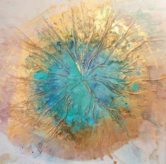 LARGE flower ART Original Art by UK artist by AffordableArtGallery, $550.00