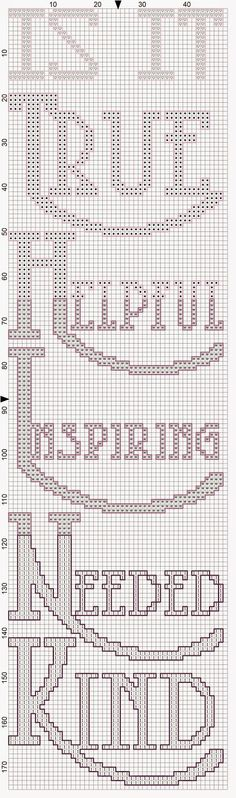 thetravelerscraftywife: THINK Cross Stitch Pattern Freebie