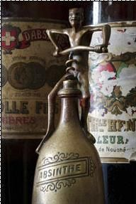 Absinthe and antique cork screw, photographer, unknown