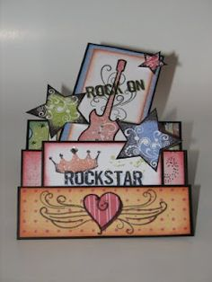 """5 1/2 x 10 1/2"""" paper , scored at 1 1/4"""", 2 1/2"""", 4 1/4"""", 6"""" and 8 1/2"""", folded accordion style.Stair Step Card"""