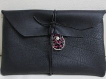 DIY Leather Clutch black