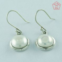 Pearl Stone 925 Sterling Silver Fashionable Design Earrings E2880 #SilvexImagesIndiaPvtLtd #DropDangle
