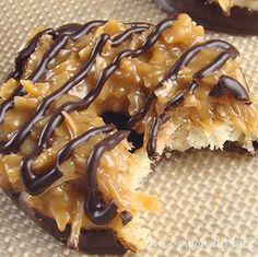 Homemade Samoas (Caramel de-Lites)  Cheryl Kruchten via Chef This Up! onto FoodRecipes