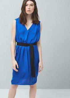 Robe ceinture - Robes pour Femme   MANGO France
