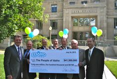 The Idaho Lottery Commission presented the largest dividend ever returned to the People of Idaho, a $41,500,000 million check!