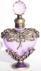 Passiflora Jeweled Heart Pewter Perfume Bottle Gallery