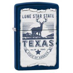 Zippo Lighter: Texas, The Lone Star State - Navy Matte 78132