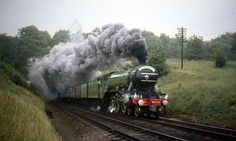 As Flying Scotsman takes its first public test-run under steam after a decade off the tracks on Jan. here's a look at some of the other spectacular trains of the world. Flying Scotsman, Steam Railway, British Rail, Steam Engine, Steam Locomotive, Around The Worlds, Photo And Video, History, 1920s