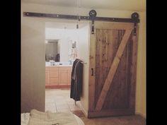 Homemade Barn Door - YouTube