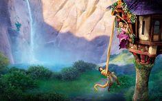 Rapunzel y su pelo: invitaciones para imprimir gratis.