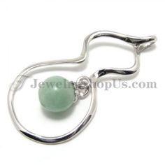 925 Silver Pendant with Jade with Free Chain