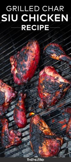 This sweet and vibrant red chicken is the perfect grilling fare.