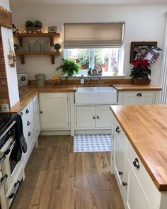 The Dirty Facts About Cottage Kitchen Design And Decoration - Decorin . - The Dirty Facts About Cottage Kitchen Design And Decoration – Decorincite – Apartment - Kitchen Redo, Home Decor Kitchen, Rustic Kitchen, Country Kitchen, New Kitchen, Home Kitchens, Shaker Kitchen, Cottage Kitchen Interior, Country Cottage Interiors