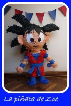 (83) La piñata de Zoe Linda Fiesta Piñata Goku, Dragon ball Z #piñatas #banderines