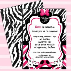 Minnie Mouse Baby Shower Invitations Get these invitations RIGHT