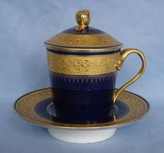 Paris Porcelain Trembleuse Chocolate Cup & Saucer - ca. 1880