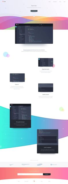 Colorful-Landing-Page #ui #ux #userexperience #website #webdesign #design