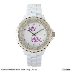 """Pink and White """"New York  """" - Watches"""