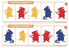 Mouse Paint Activities, Color Activities, French Teaching Resources, Teaching French, Splat Le Chat, Art History Memes, Paper Bat, Color Unit, French Colors