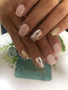 Get Nails, Love Nails, Pretty Nails, Gelish Nails, Manicure, Jamberry Nails, Art Deco Nails, Aztec Nails, Chevron Nails