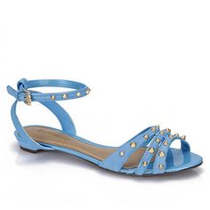 Sandalia  Rasteira Feminina Dumond 4107529 - Azul